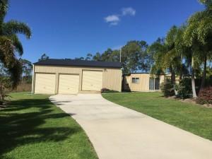 custom domestic shed 3 bay