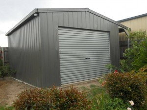 custom domestic shed single bay side awning