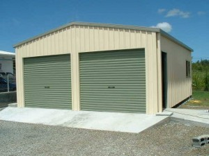 custom domestic shed two bay