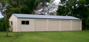 custom domestic shed five bays