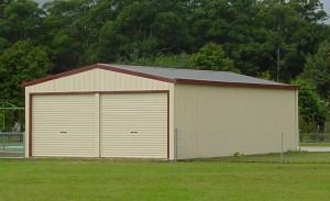 custom enclosed double garage