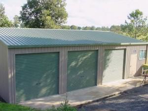 custom enclosed triple garage and workshop