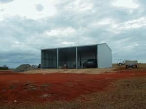 custom rural shed three bays
