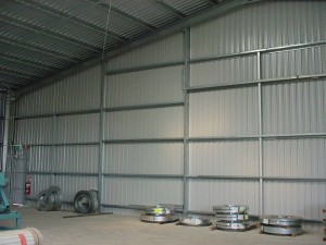 custom rural industrial shed (inside)