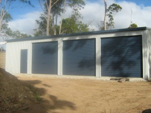 custom domestic shed 3 bay