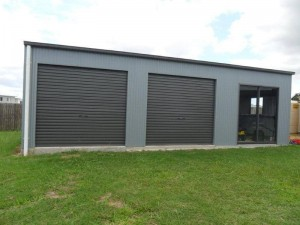 custom domestic shed two bay with room