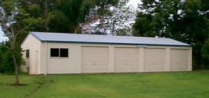 custom domestic shed five bays