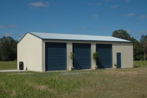 custom domestic shed 4 bays