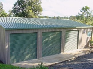 custom enclosed triple garage and workshop